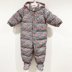 Gap baby floral down snow winter suit Sz 18-24M